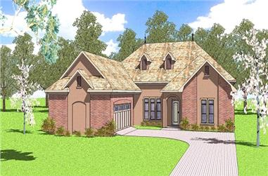 3-Bedroom, 2366 Sq Ft Ranch House Plan - 155-1001 - Front Exterior