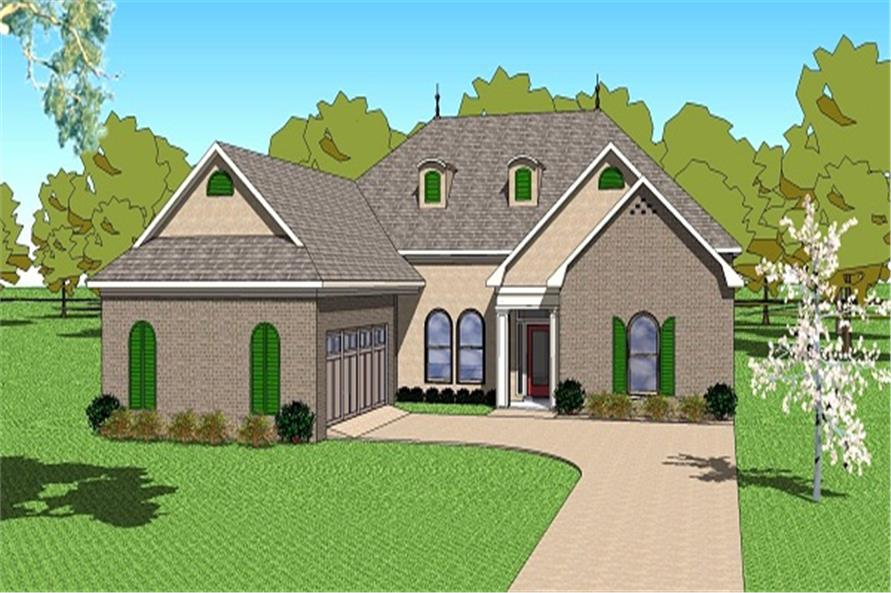 3-Bedroom, 2366 Sq Ft Ranch House Plan - 155-1002 - Front Exterior