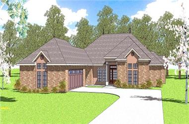 3-Bedroom, 2105 Sq Ft Ranch House Plan - 155-1003 - Front Exterior
