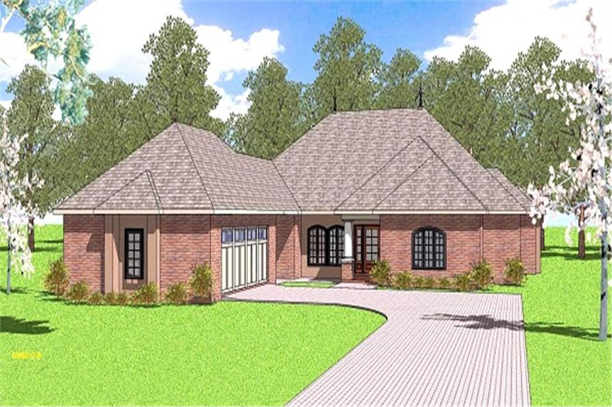 3-Bedroom, 2105 Sq Ft Ranch House Plan - 155-1004 - Front Exterior