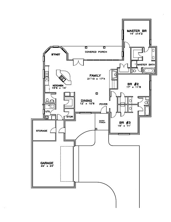 155-1005 house plan first floor