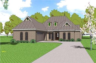 3-Bedroom, 2105 Sq Ft Ranch House Plan - 155-1005 - Front Exterior