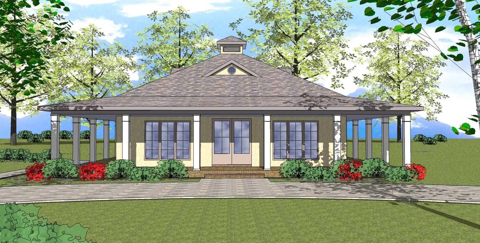 Southern house plan 155 1006 2 bedrm 1225 sq ft home for Southern homes florida