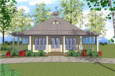 2-Bedroom, 1225 Sq Ft Southern Home Plan - 155-1006 - Main Exterior