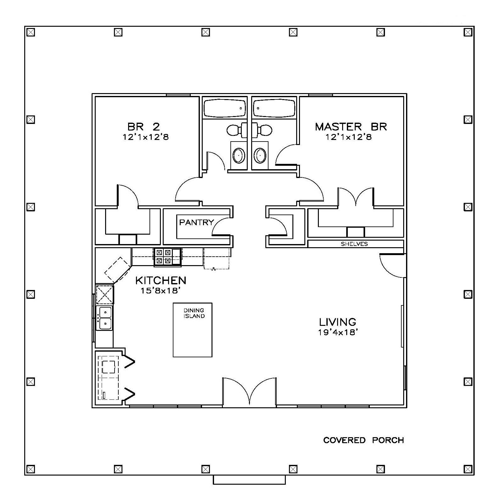 Southern House Plan 155 1010 2 Bedrm 1225 Sq Ft Home