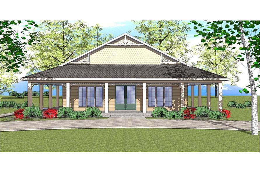 Home Plan Rendering of this 2-Bedroom,1225 Sq Ft Plan -1225