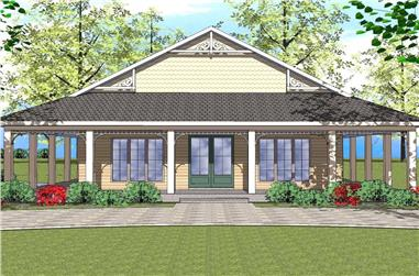 2-Bedroom, 1225 Sq Ft Southern House Plan - 155-1010 - Front Exterior