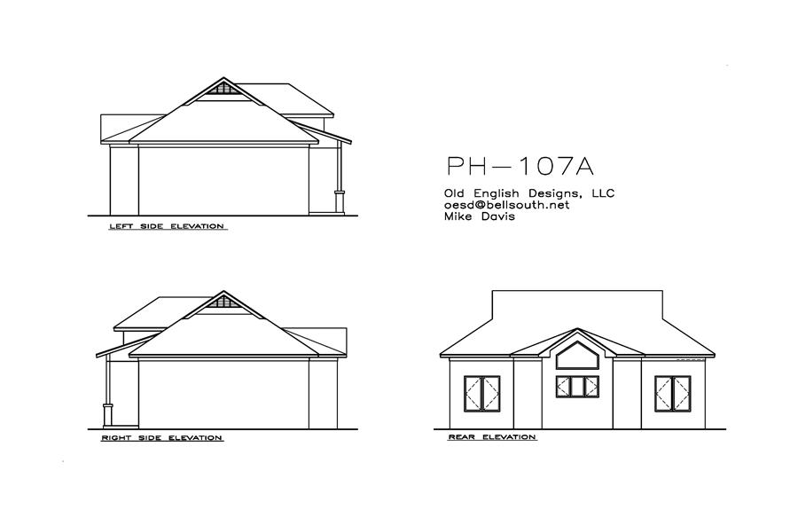 Home Plan Rear Elevation of this 1-Bedroom,701 Sq Ft Plan -155-1012