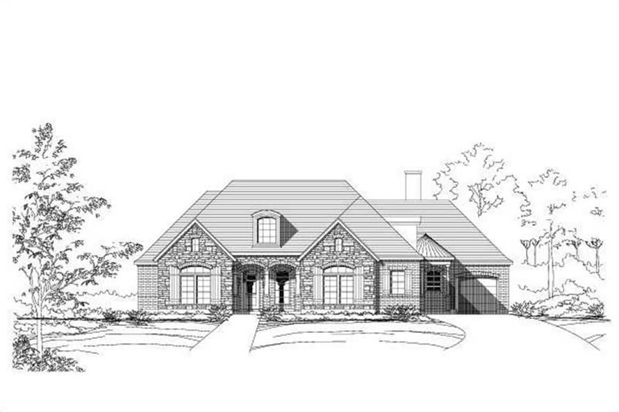 3-Bedroom, 2857 Sq Ft Country House Plan - 156-1000 - Front Exterior