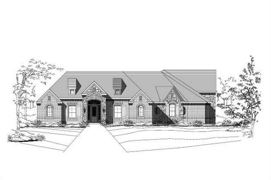 3-Bedroom, 3092 Sq Ft Ranch House Plan - 156-1001 - Front Exterior