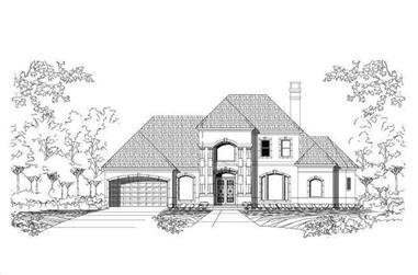 3-Bedroom, 4288 Sq Ft Mediterranean House Plan - 156-1002 - Front Exterior