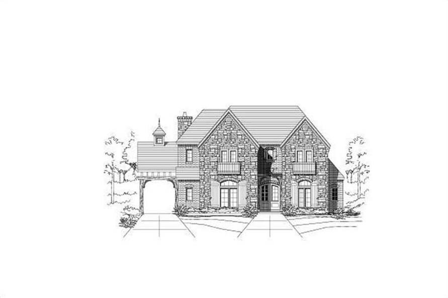 Front elevation of Country home (ThePlanCollection: House Plan #156-1003)