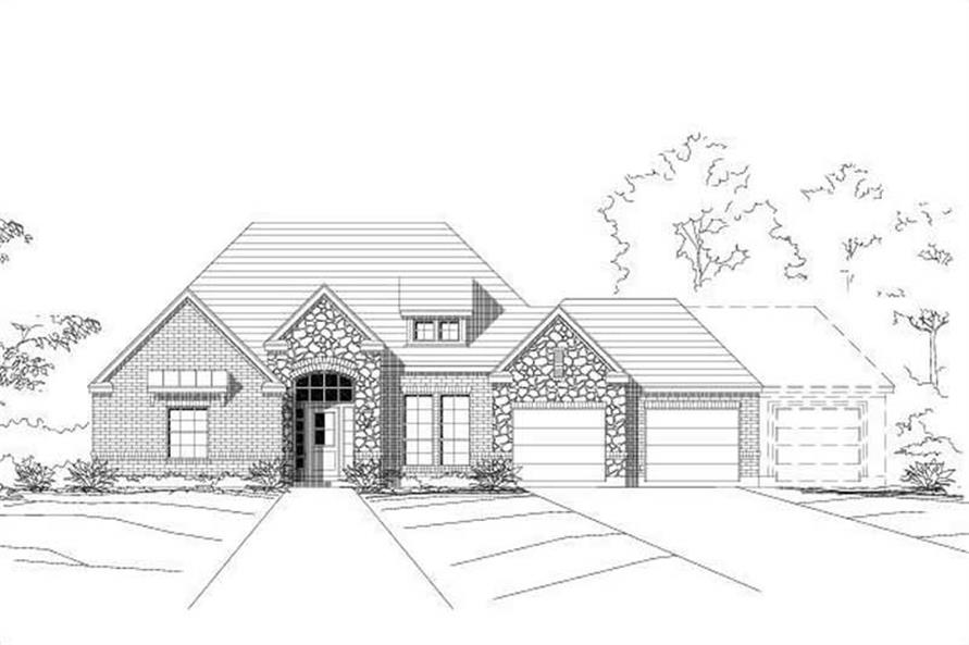 4-Bedroom, 2052 Sq Ft Ranch House Plan - 156-1004 - Front Exterior
