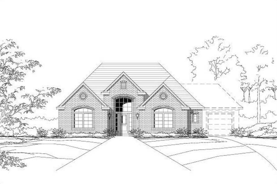 Main image for house plan # 16025