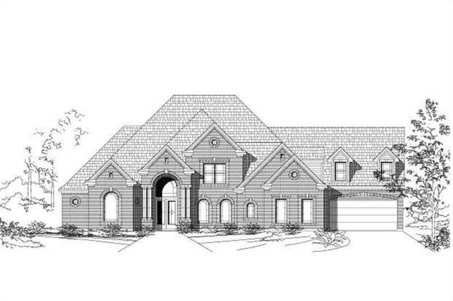 4-Bedroom, 5093 Sq Ft Luxury House Plan - 156-1006 - Front Exterior