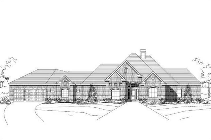 Main image for house plan # 16111