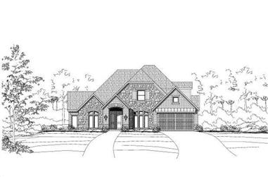 3-Bedroom, 3939 Sq Ft Country Home Plan - 156-1008 - Main Exterior