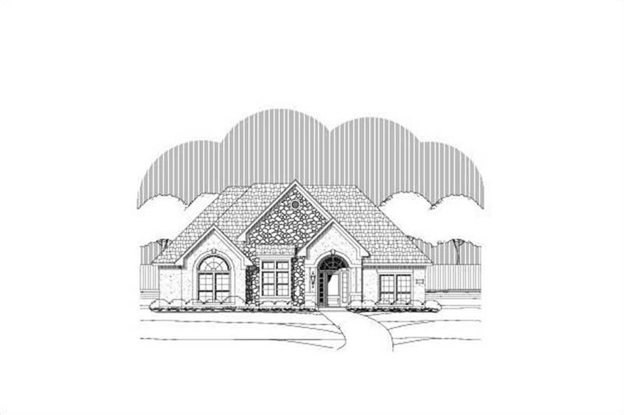 4-Bedroom, 3056 Sq Ft Ranch Home Plan - 156-1009 - Main Exterior
