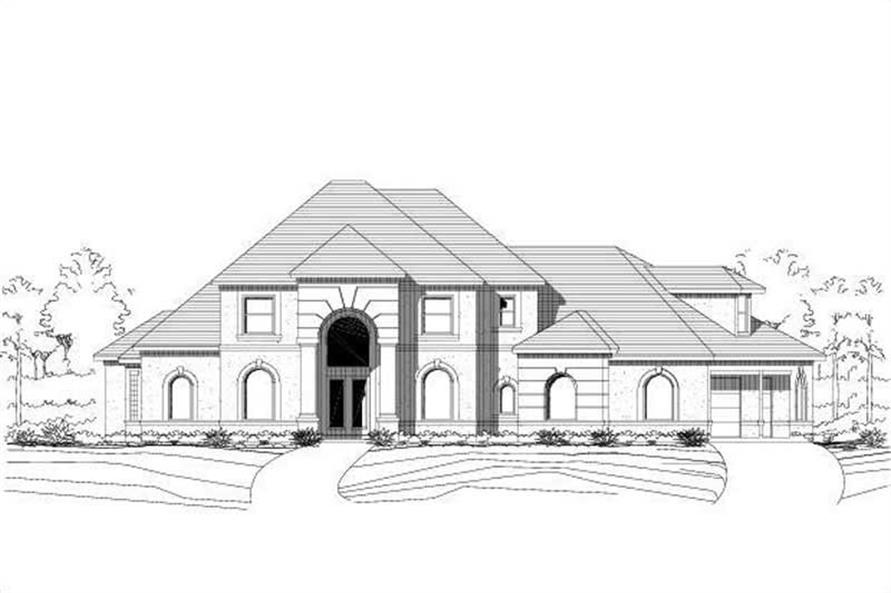 Main image for house plan # 16007
