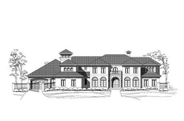 5-Bedroom, 8402 Sq Ft Mediterranean House Plan - 156-1011 - Front Exterior