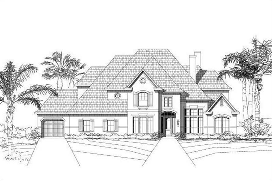 5-Bedroom, 5017 Sq Ft Luxury Home Plan - 156-1012 - Main Exterior