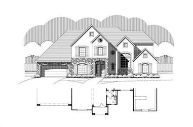 4-Bedroom, 4454 Sq Ft Country Home Plan - 156-1014 - Main Exterior