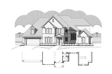 4-Bedroom, 4454 Sq Ft Luxury Home Plan - 156-1015 - Main Exterior
