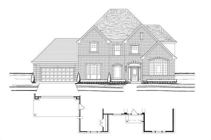 5-Bedroom, 4170 Sq Ft Luxury Home Plan - 156-1016 - Main Exterior