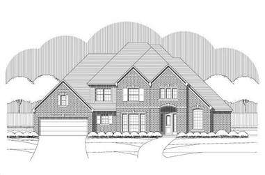 4-Bedroom, 4270 Sq Ft Luxury Home Plan - 156-1018 - Main Exterior