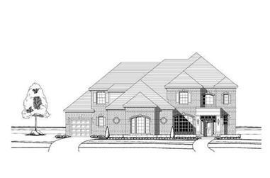 4-Bedroom, 4372 Sq Ft Luxury Home Plan - 156-1019 - Main Exterior