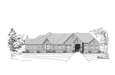 4-Bedroom, 3787 Sq Ft Luxury Home Plan - 156-1021 - Main Exterior