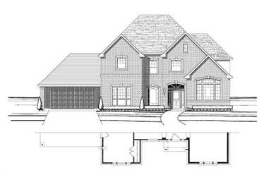 5-Bedroom, 4148 Sq Ft Luxury House Plan - 156-1024 - Front Exterior