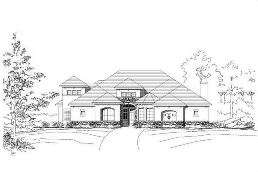 3-Bedroom, 2988 Sq Ft House Plan - 156-1025 - Front Exterior
