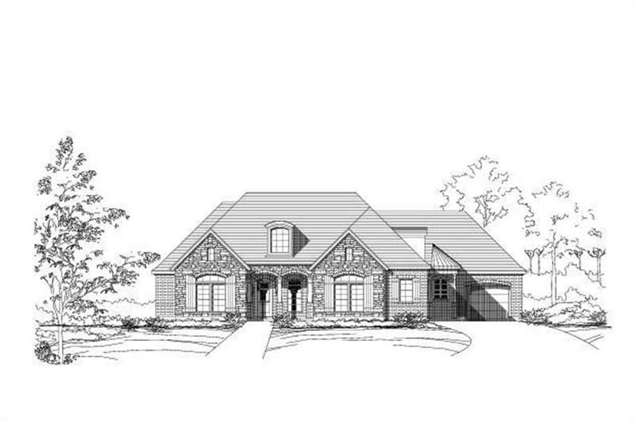 4-Bedroom, 2915 Sq Ft Ranch Home Plan - 156-1027 - Main Exterior