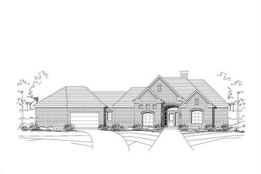 4-Bedroom, 2290 Sq Ft Ranch Home Plan - 156-1030 - Main Exterior