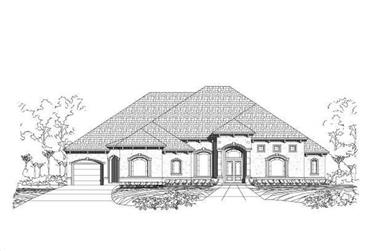 3-Bedroom, 4187 Sq Ft Mediterranean Home Plan - 156-1031 - Main Exterior