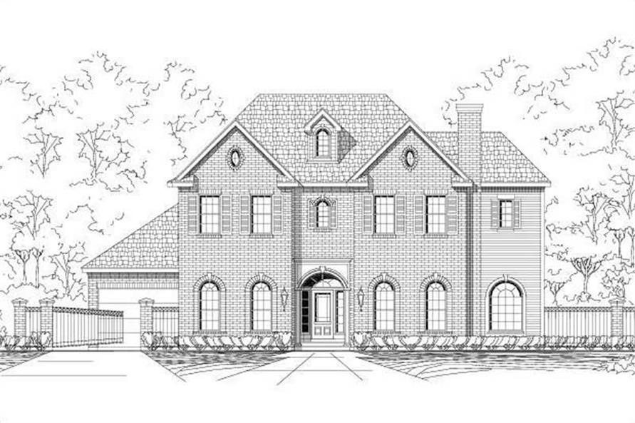4-Bedroom, 5021 Sq Ft Luxury House Plan - 156-1032 - Front Exterior