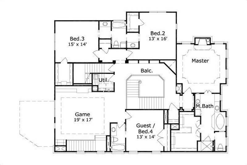 Luxury traditional house plans home design ohp 11268 for Breland homes floor plans