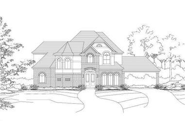 4-Bedroom, 3918 Sq Ft Luxury Home Plan - 156-1033 - Main Exterior