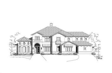 5-Bedroom, 4760 Sq Ft Mediterranean House Plan - 156-1035 - Front Exterior