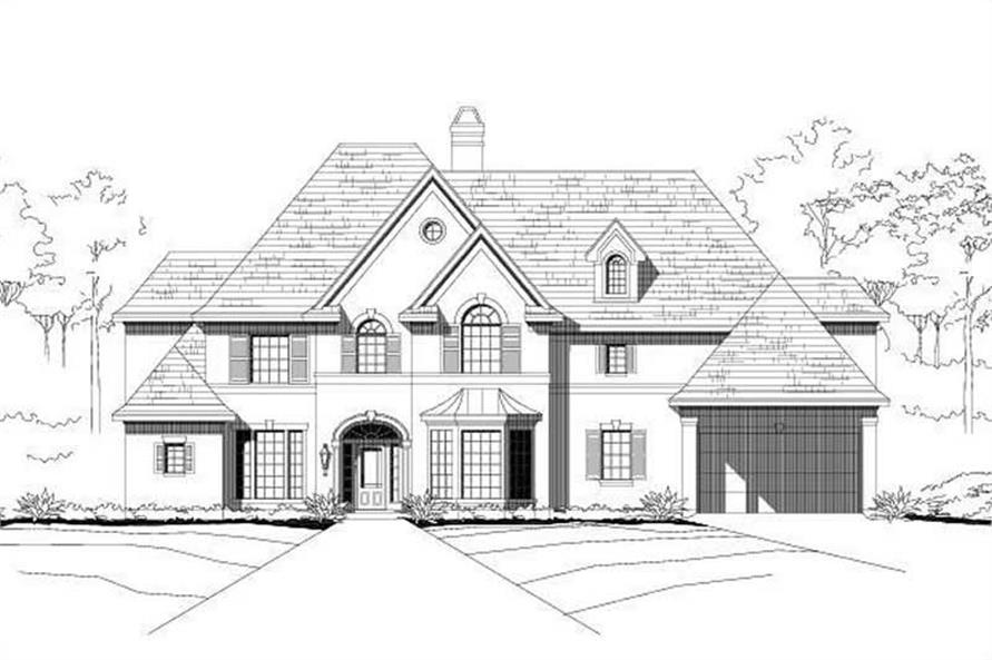 4-Bedroom, 4706 Sq Ft Luxury House Plan - 156-1036 - Front Exterior