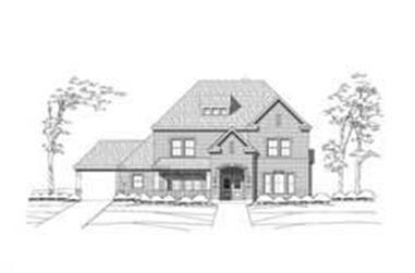 5-Bedroom, 4779 Sq Ft Luxury Home Plan - 156-1037 - Main Exterior