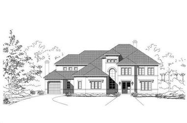 4-Bedroom, 4878 Sq Ft Mediterranean House Plan - 156-1038 - Front Exterior