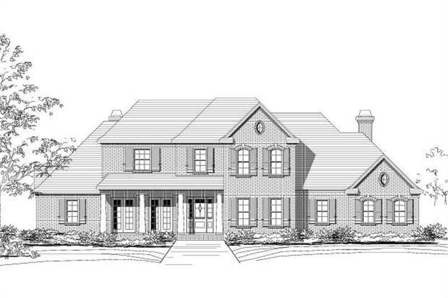 4-Bedroom, 4877 Sq Ft Luxury House Plan - 156-1039 - Front Exterior