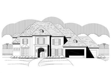 5-Bedroom, 4721 Sq Ft Luxury House Plan - 156-1040 - Front Exterior