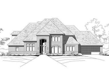 4-Bedroom, 4824 Sq Ft Luxury Home Plan - 156-1041 - Main Exterior