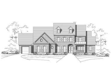 4-Bedroom, 5250 Sq Ft Luxury Home Plan - 156-1042 - Main Exterior