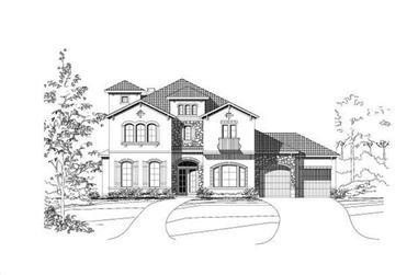 5-Bedroom, 4879 Sq Ft Mediterranean House Plan - 156-1043 - Front Exterior