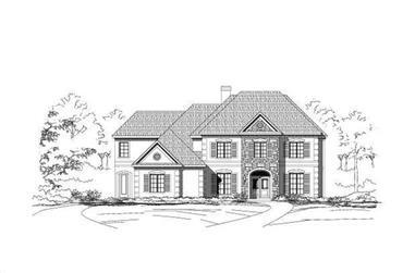 5-Bedroom, 5355 Sq Ft Luxury Home Plan - 156-1044 - Main Exterior