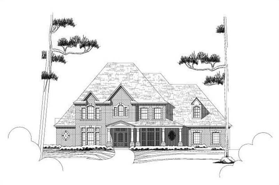 4-Bedroom, 5024 Sq Ft Luxury Home Plan - 156-1045 - Main Exterior